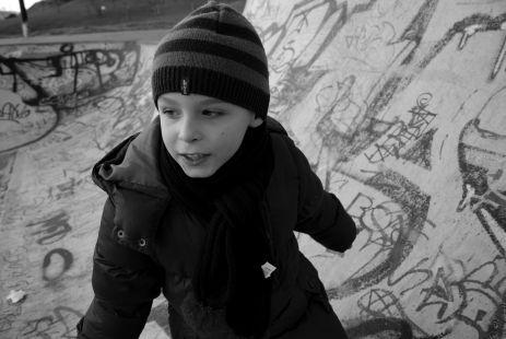Iker en el skatepark