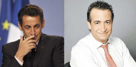 Sarkozi y el perodista JJ Santos