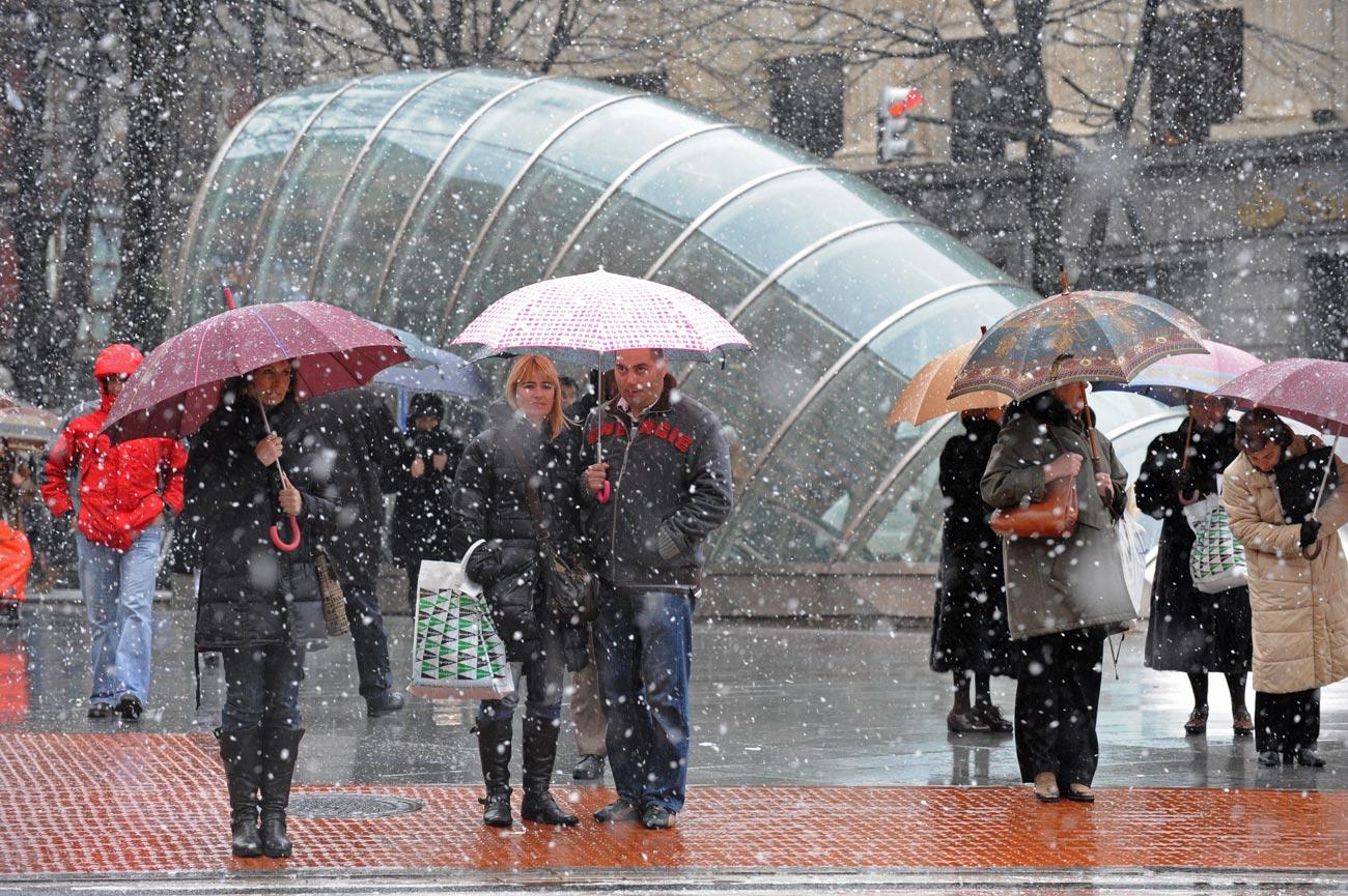Temporal de nieve en euskadi fotos de ltima hora - Temperatura actual bilbao ...