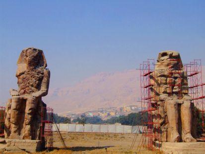 los colosos de mennon, egipto