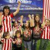 ¡Aupa Athletic!, proclaman al unísono Laura, Yurema, Oier, Estibaliz, Naiara, Iera, Paula y Mari Paz