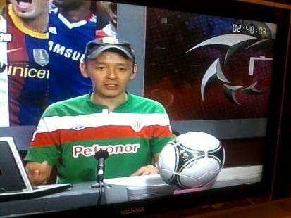 El presentador de la tv china, por supuesto, del Athletic!