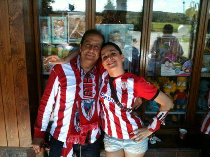 Javi y Ohiane desde Madrid