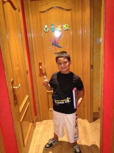 el primo oier con 7 años