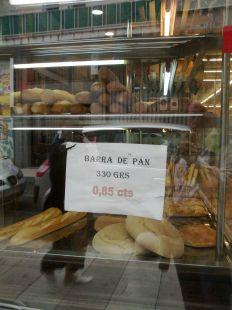 Precio del pan en Castro