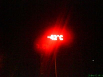 Bilbo a  -42ºC