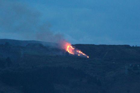 Incendio en la zona de La Arboleda
