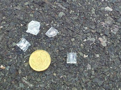 Nueva caida cristal en edificio en Salburua.