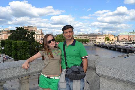 Inda y Maider en Estocolmo