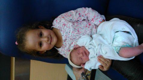 Haizea y Hegoi en el hospital