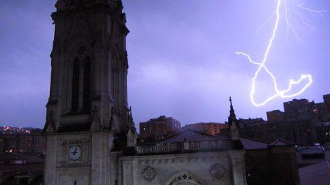 Destello Tras la Catedral de Bilbao
